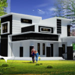 2 floor front elevation with beautiful design