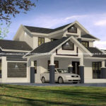 2 storey house plan with impressive design