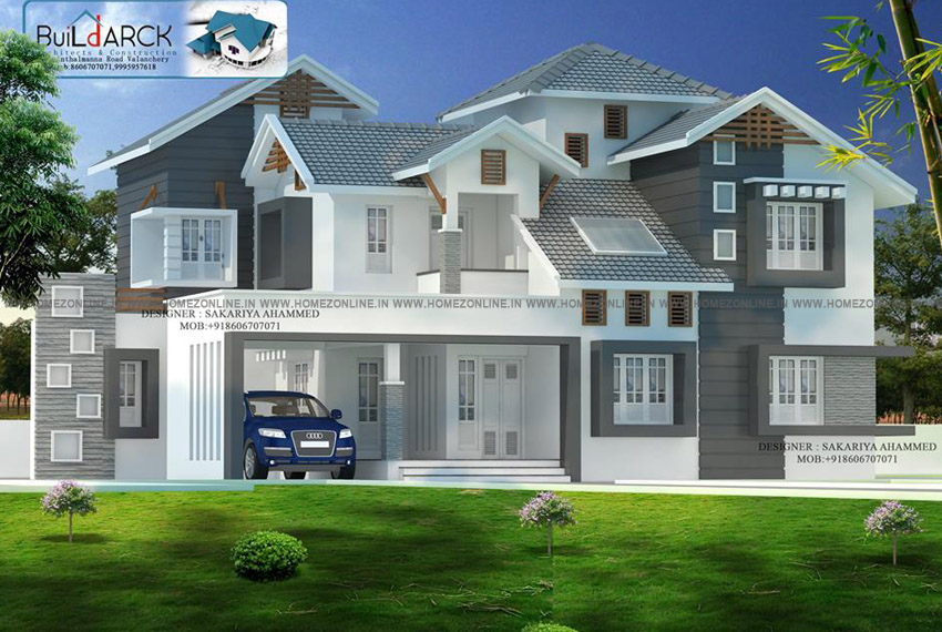 3000 square feet house with a beautiful exterior design