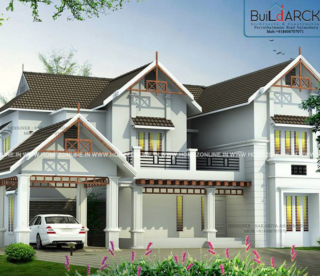 4 BHK house plan on 1800 square feet