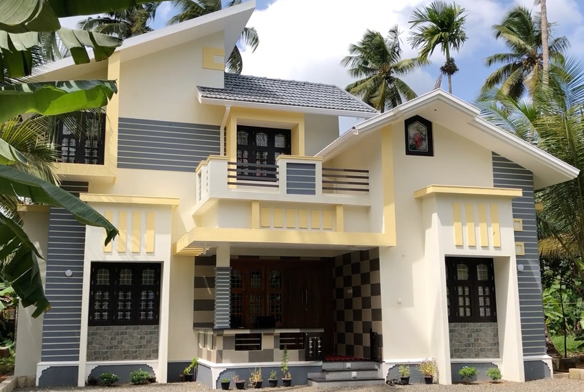 Latest double story home with beautiful exterior
