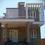 Contemporary style home in double story for 25 lakh