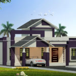 Lovely single floor house design in 1200 square feet