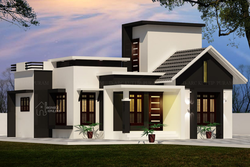 Today we come up with Single story house plan with lovely design. This house have 2 bedroom with attached bathroom, living and hall.