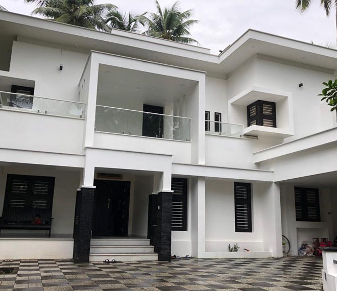 Brand new duplex home with luxury interior and courtyard