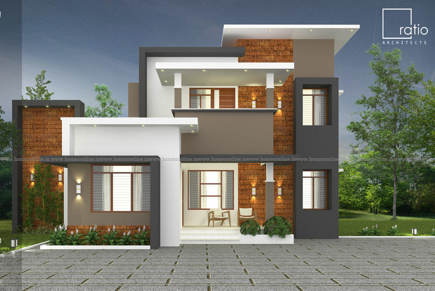 Small double storey house with superb exterior design