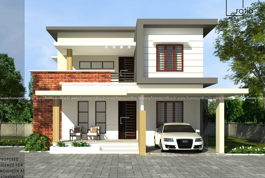 Classy duplex home with delightful exterior design