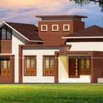 Lovely 2 bedroom house design in nice looking exterior