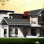 Stunning double floor bungalow design on awesome roof design