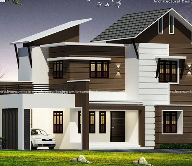 Graceful house plan design on arresting exterior outlook