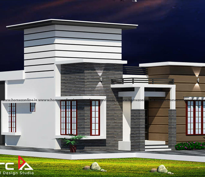 Modern small house plan on a contemporary style design
