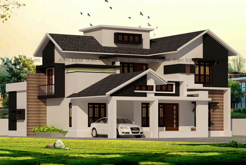 Modern two level home planned in 4 bedroom