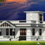 One storey modern house plan on eye catching external design