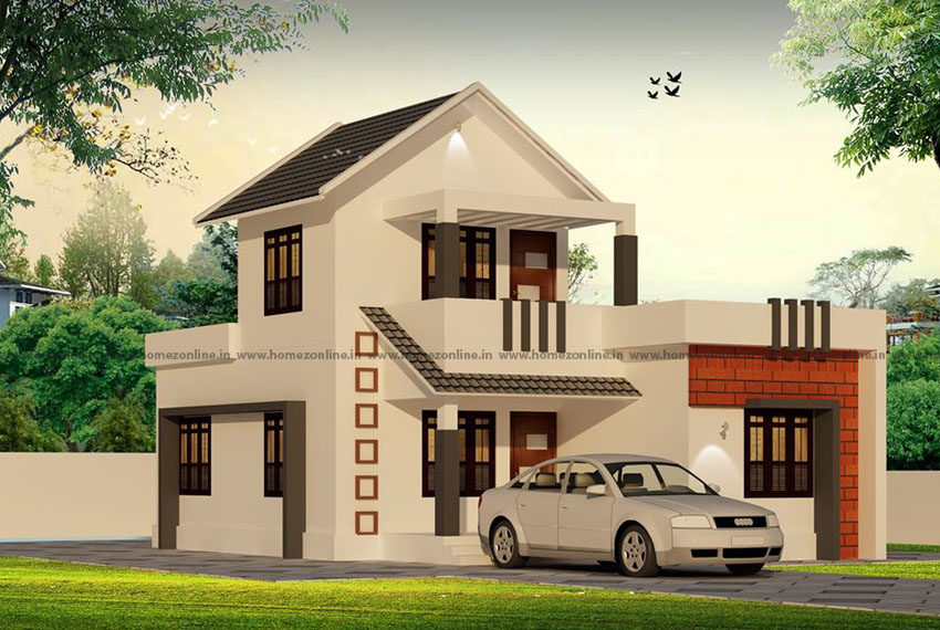 Small double floor home design with 3 bedroom