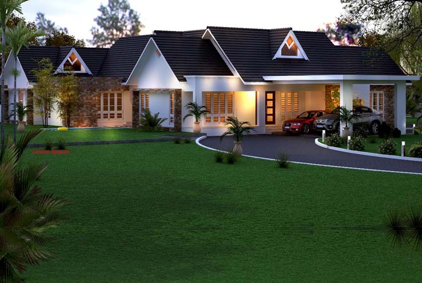 Best Kerala style house planed in single storey
