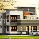 Double floor home design planed with modern features