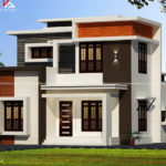 Kerala style flat roof house plan