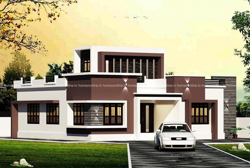 Modern single story house plan designed with beautiful exterior