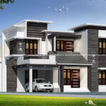 New home elevation with modern decoration work