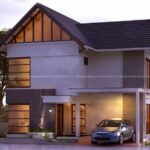Small duplex house design with excellent outdoor style