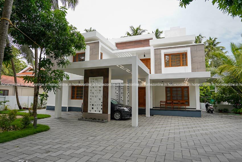 Brand new home with eye catching double story design