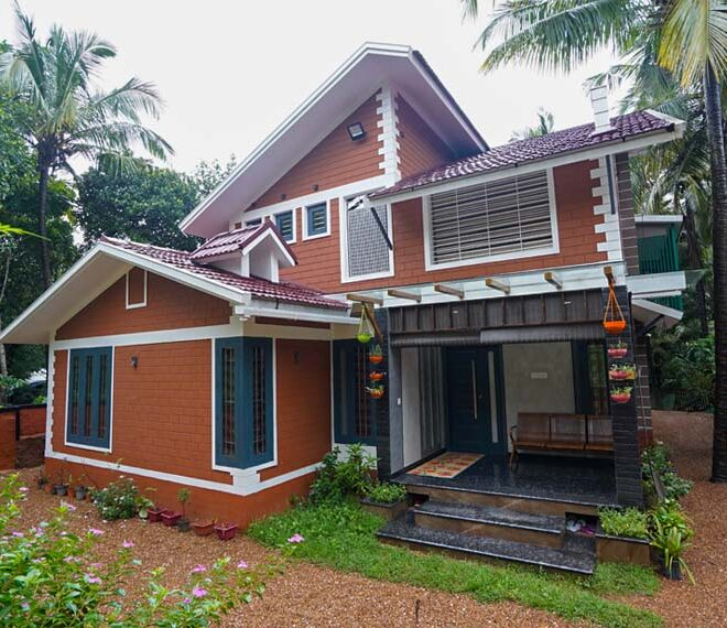 Traditional 2 floor house