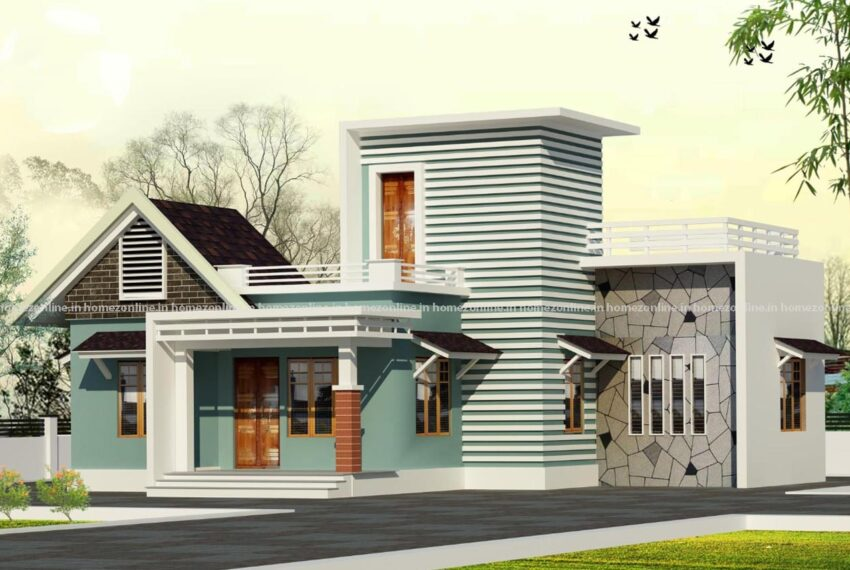 Marvellous single floor house design with 2 bedroom