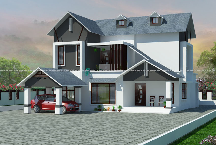 Modern double storey house