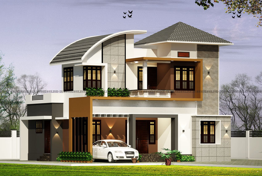 Small double floor house plan