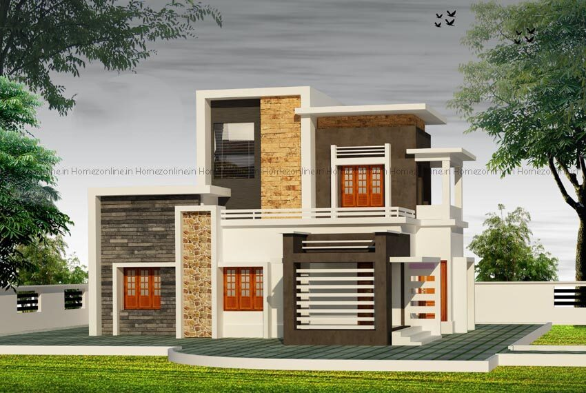 Brand new flat roof home design