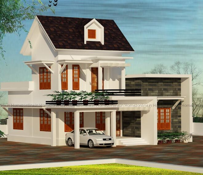 Ravishing double storey home design