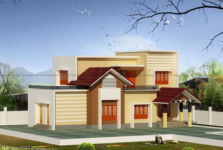 Simple and Elegant double storey home