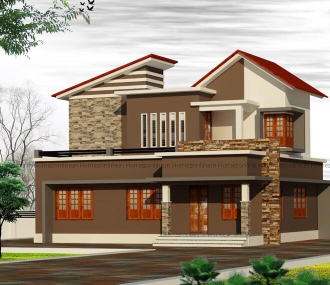 Stunning mixed roof home design