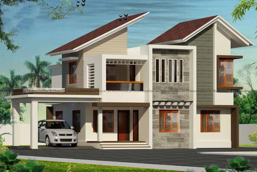 4BHK home design with splendid exterior