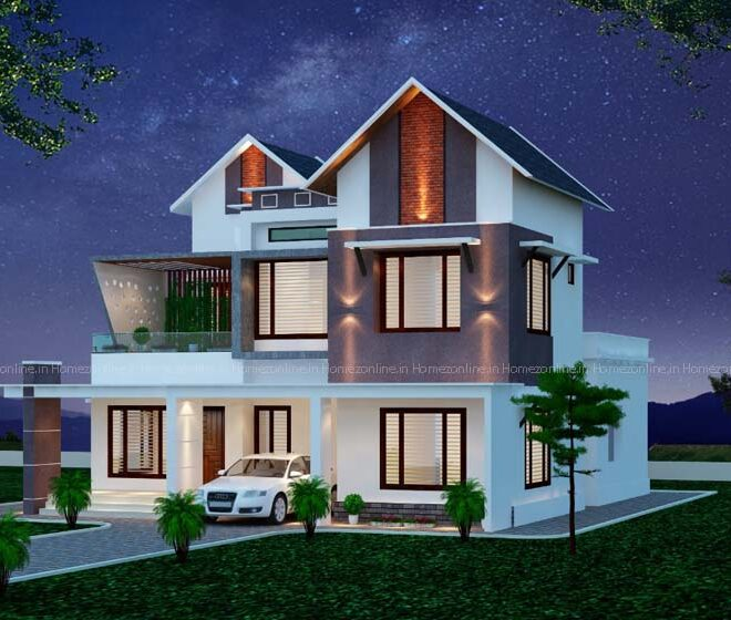 Best modern double storey home design