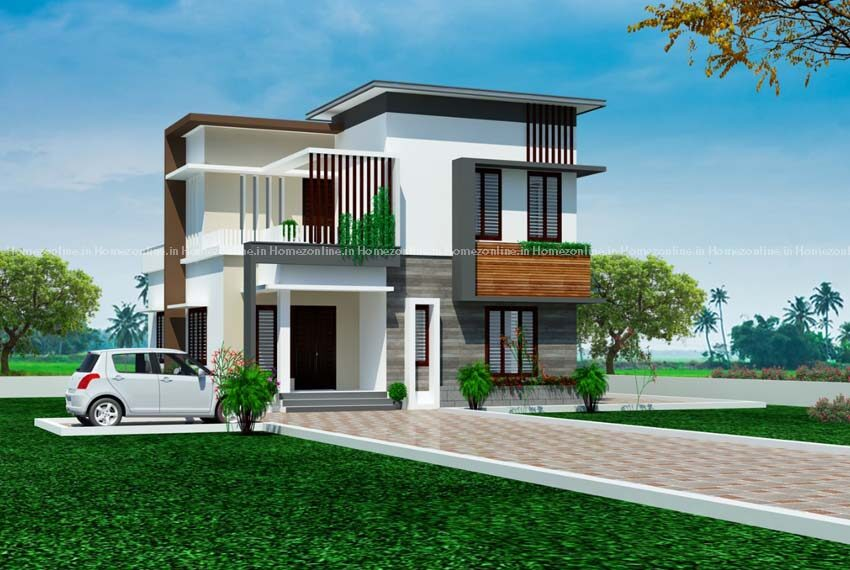 Enchanted double storey home design