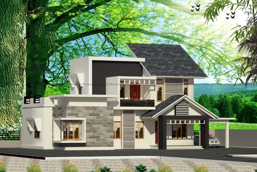 Fascinating double storey home design