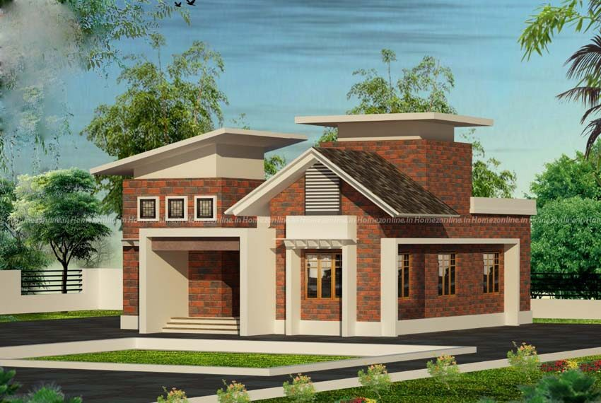 Brick style single storey home design