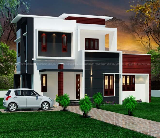 Marvellous two storey home on flat roof