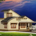 Single storey home on attractive slope roof