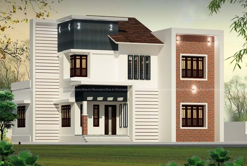 3 bhk small double storey home in 1750 sq ft