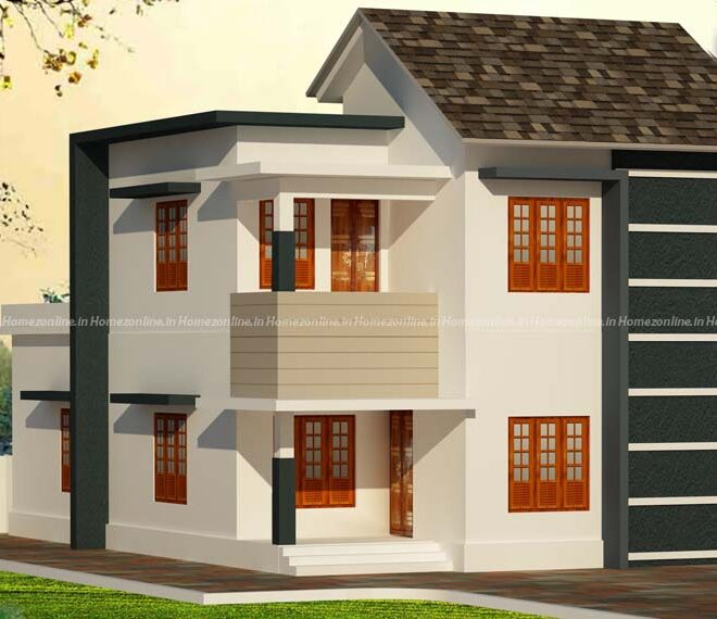 Duplex home on simple exterior design
