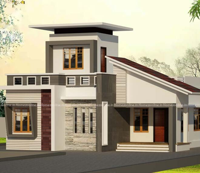 Low cost house on delightful exterior