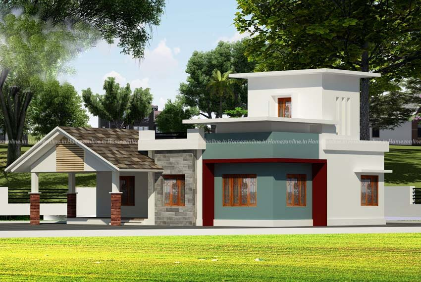 Modern mixed roof single floor home