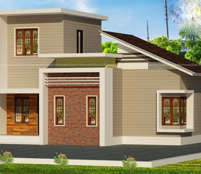 Modern single storey home with unique exterior