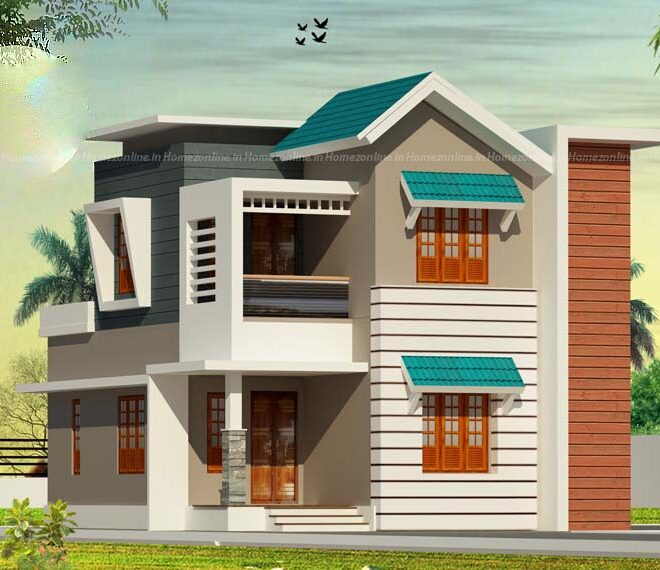 Two storey home with splendorous exterior
