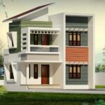 Two storey small house with contemporary style