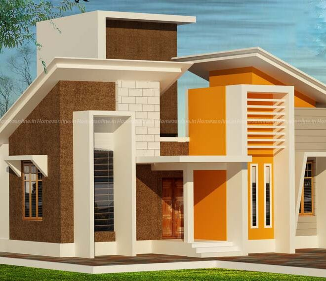 800 sq ft Small home design on mixed roofing