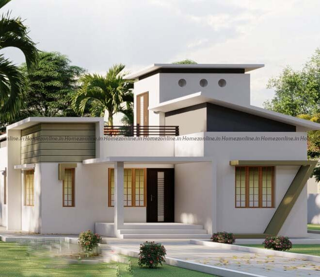 Low cost small home design in an area of 850 sq ft