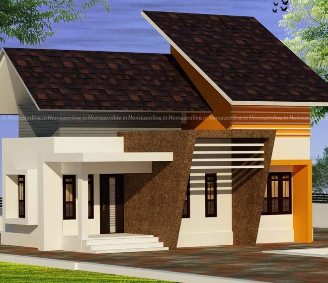 Small home design attracted with roofing